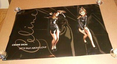 Celine Dion Let's Talk about Love Double Sided 1997 Promo Poster 36x23