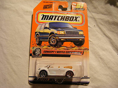 Matchbox #: 96376 Concept 1 VW Convertable , #81 of 100, In Box