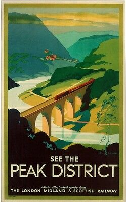 29 Vintage Railway Art Poster The Peak District   *FREE POSTERS