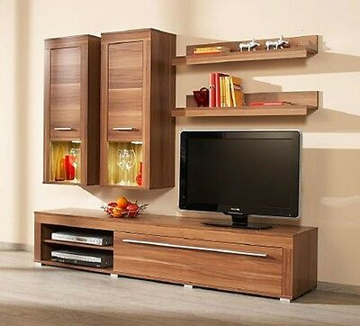 schrankwand ahorn nachbildung tv schrank regal wohnwand eur 39 00 picclick de. Black Bedroom Furniture Sets. Home Design Ideas