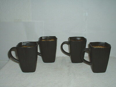 "(4) 4 1/2"" Mugs Baum Bros. Galaxy Plum"