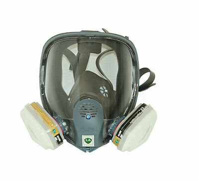 For 3M 6800 Gas Mask Full Facepiece Respirator 7 Piece Suit Painting Spraying