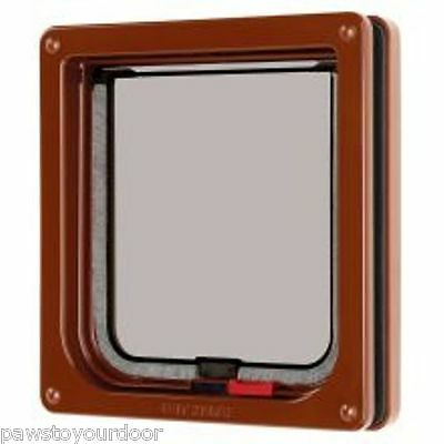 Petmate Cat mate cat flap pet door brown 304B lockable catflap