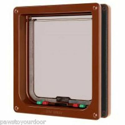 Petmate Cat mate cat flap pet door brown 221B large cat or small dog