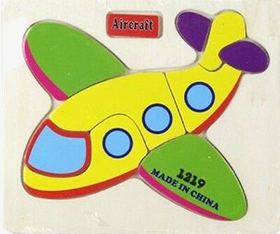 9pcs Hand Crafted aircraft Puzzles for Kids and Educational Toy Learning-age1.5+