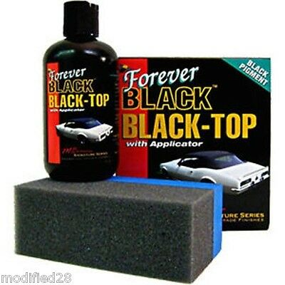 FOREVER BLACK Vinyl Soft Top Gel Dye Convertible Bimini