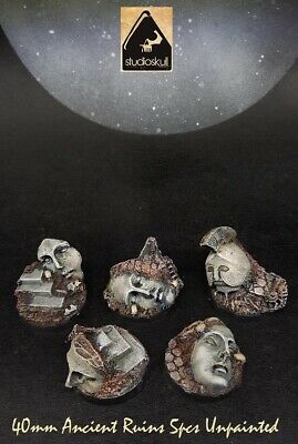 40mm RESIN BASES  ANCIENT STATUES WARHAMMER 40K