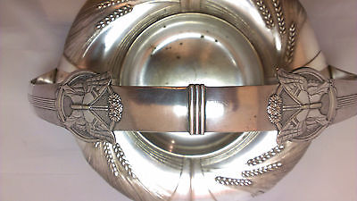 Wmf Art Nouveau Jugendstil Butterfly Wheat Basket Silver Plate Marked: Sandrik
