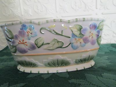 """Fitz and Floyd Classics """"Halcyon"""" Retired Planter/Cache Pot"""