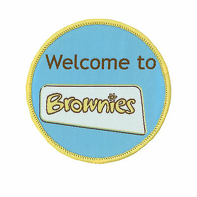 Welcome To Brownies Cloth Badge Official Brownie Uniform New