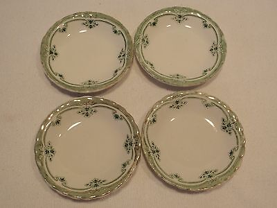 """Antique W H WH Grindley """"The Duchess""""  BUTTER PATS Set of 4- Only 1 Stamped"""
