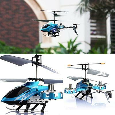 New AVATAR Z008 4CH IR Metal RC Remote Control Helicopter LED Light GYRO Blue