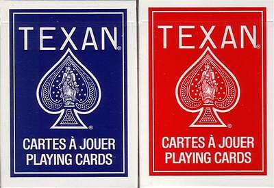 2 OHIO Bicycle USPC Made Texan Palmetto '45 Blue & Red Playing Cards Decks!