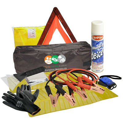 Car Emergency Winter Safety Kit  Deicer Triangle Vest Jump Leads Torch Breakdown