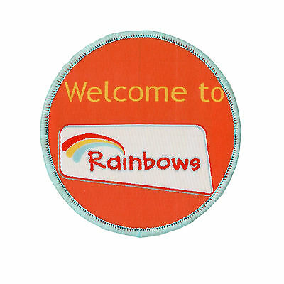 Welcome To Rainbows Cloth Badge Official Rainbow Uniform New