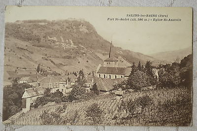 """CPA """" SALINS LES BAINS - Fort St André - Eglise St Anatolle"""