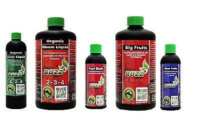 Green Buzz Liquids GBL Dünger Set 1 m² Organic Grow Bloom Fast Buds Big Fruits