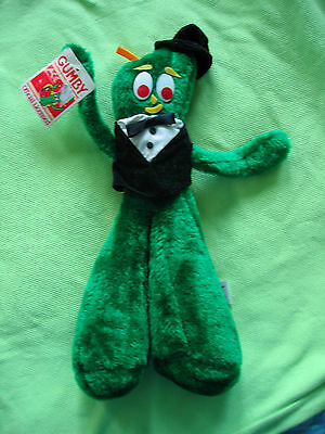 1988 Gumby 14 Inch Plush Toy in Tuxedo & Top Hat Original Tag - Ace Novelty Ltd