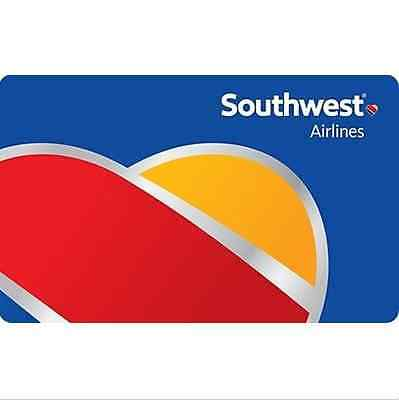 Southwest Airlines Gift Card - $25 $50 $100 or $200 - Fast Email delivery