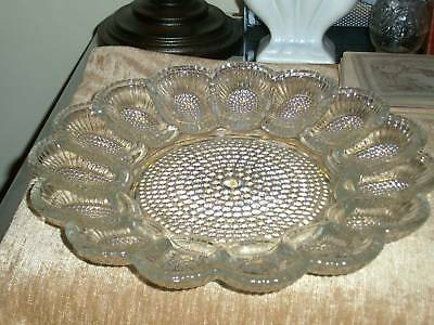 Indiana~HOBNAIL~Clear Relish/Deviled Egg Plate