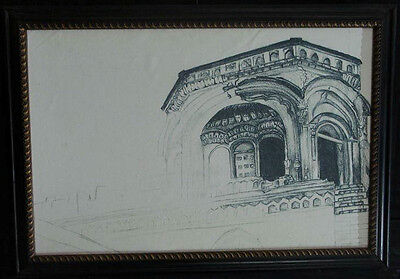 Oil Painting historical architect hand painting best home decor gift by artist