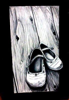 Handmade painting baby shoes best home decor by artist best Christmas gift