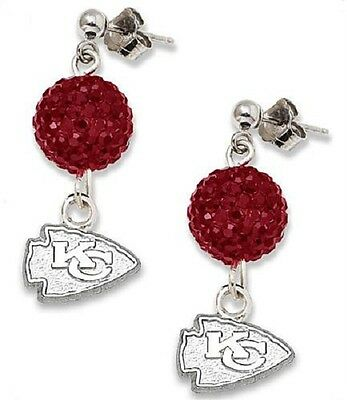 35b315451c7 KANSAS CITY CHIEFS Bling Earrings Jewelry Crystal Jewelry -  14.99 ...