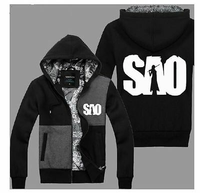 Anime Sword Art Online Kirito Jacket Hooded Casual Sweatshirt Hoodie#K1