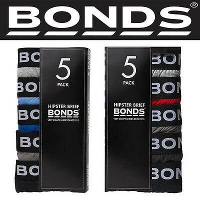 Authentic Bonds Men Men's 5 Pack Hipster Brief Briefs Underwear Cotton S M L XL