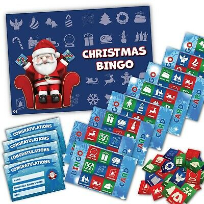 Xmas Stocking Filler - CHRISTMAS BINGO GAME- Family, Kids, Office Xmas Party
