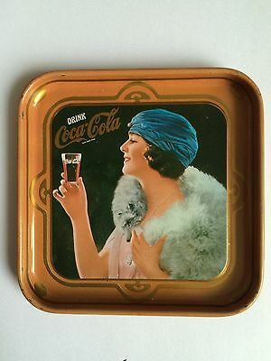 COCA-COLA DRINK ADVERTISING OLD GLASS COASTER TIN PLATE TRAY PAD RETRO GIRLS D