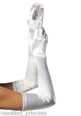 Long Satin Gloves USA Seller Over the Elbow Prom Wedding Bridal Party Formal