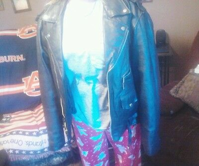 Usa Bikers Dream Apparel Leather Jacket Size 44