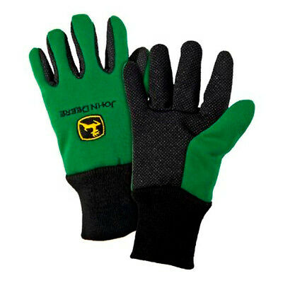 John Deere Green Youth Size Gloves 100% Cotton West Chester LP42386