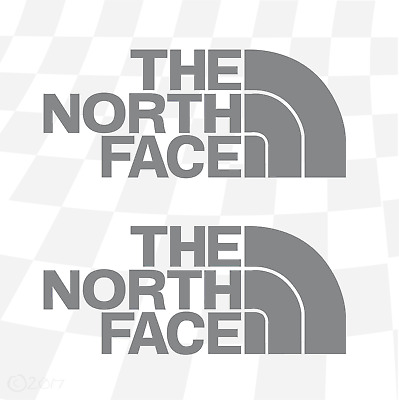The North Face stickers 90mm x 2  Treking Walking MTB Ski Snowboard BMX Surf VW
