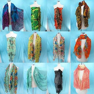 *US SELLER*lot of 5 boho vintage retro sarong Wholesale Scarves and Wraps