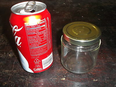 CASE OF 24 8 Ounce GLASS MASON JARS CANDLE MAKING CANNING WITH GOLD LIDS