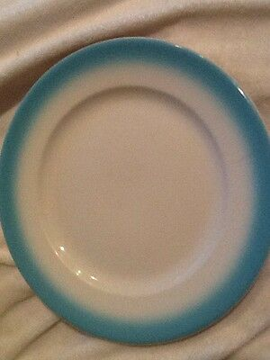 VTG W12 Buffalo China Turquoise Blue  Dinner Plate 9 Inch Restaurant Ware