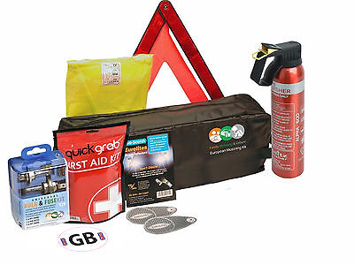 Travel Abroad EU Euro Europe Car Van Driving In France French Gold Kit Complete