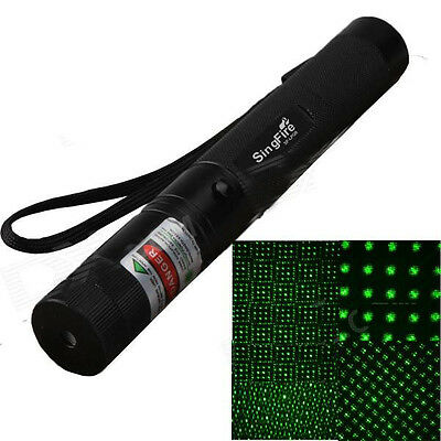 500mW = 11,2 miles Green  Laser Light Starry Light Effect Zooming Flash