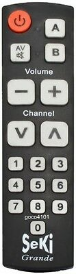 Seniors Pensioners Remote Control Extra Large Big Buttons for Elderly Learnable