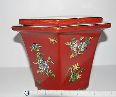 "Japanese Porcelain ware decorated in hong kong a.c.f .BEAUTY  Measures 8"" wide."