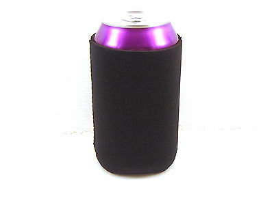 50 Blank Neoprene Koozie/Pocket Coolies for Promotion/Weddings-Black