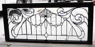 Victorian Beveled Glass Transom Window