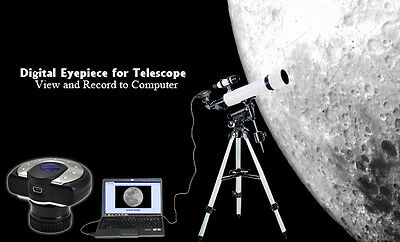 Digital Eyepiece for Telescope - View   Record to Computer