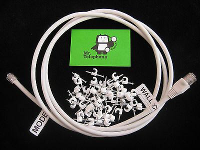 30cm CAT6 DSL LEAD CABLE for FIBRE TELEPHONE LINES like BT INFINITY FTTC VDSL