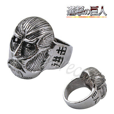 Attack On Titan Affiliation Corps Mini Colossal Titan Finger Ring US Size 9 UK R