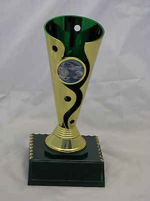 Swimming Cup Green/Gold 175mm Engraved FREE