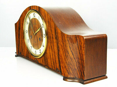 Rare Beautiful Art Deco Junghans Chiming Mantel Clock  With Balance Wheel