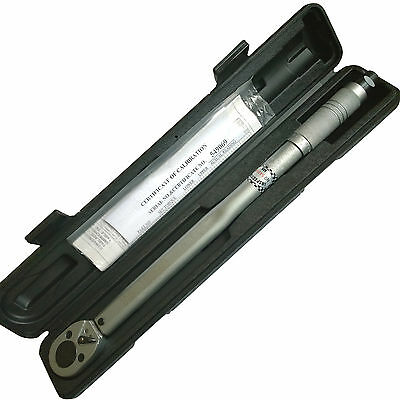 Torque Wrench 1/2 Dr Pro Torque Wrench Calibration Certificate & Locking Nut inc